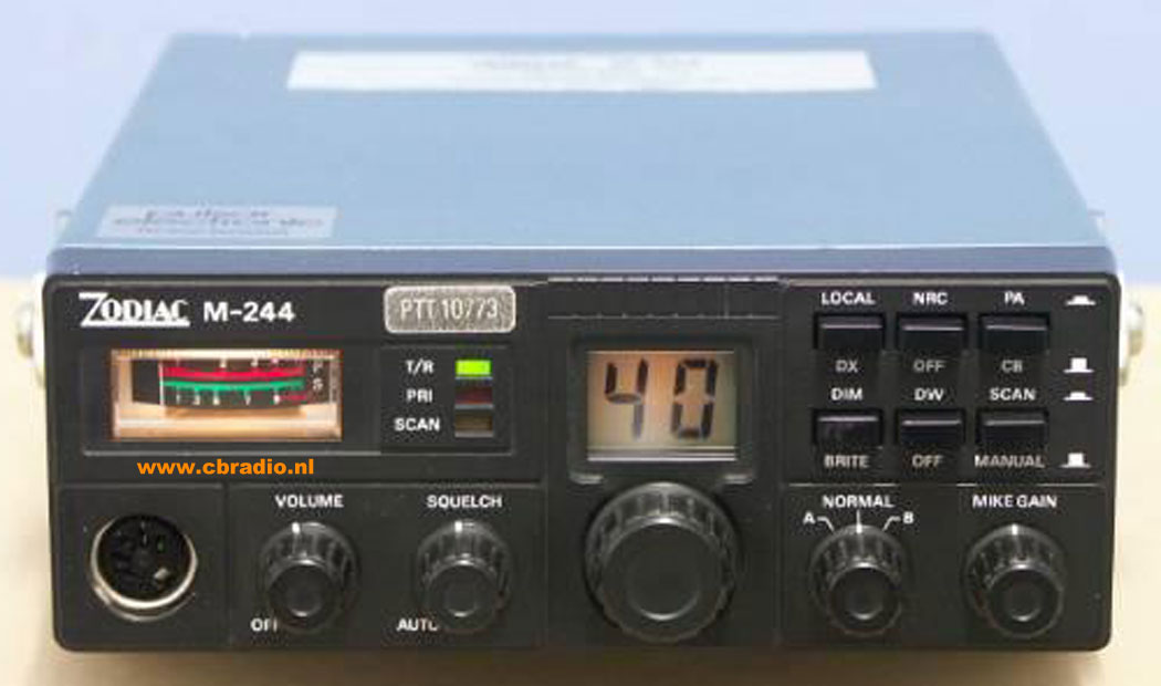 ... : Pictures and Specifications of the Zodiac CB-Radios & Export Radios