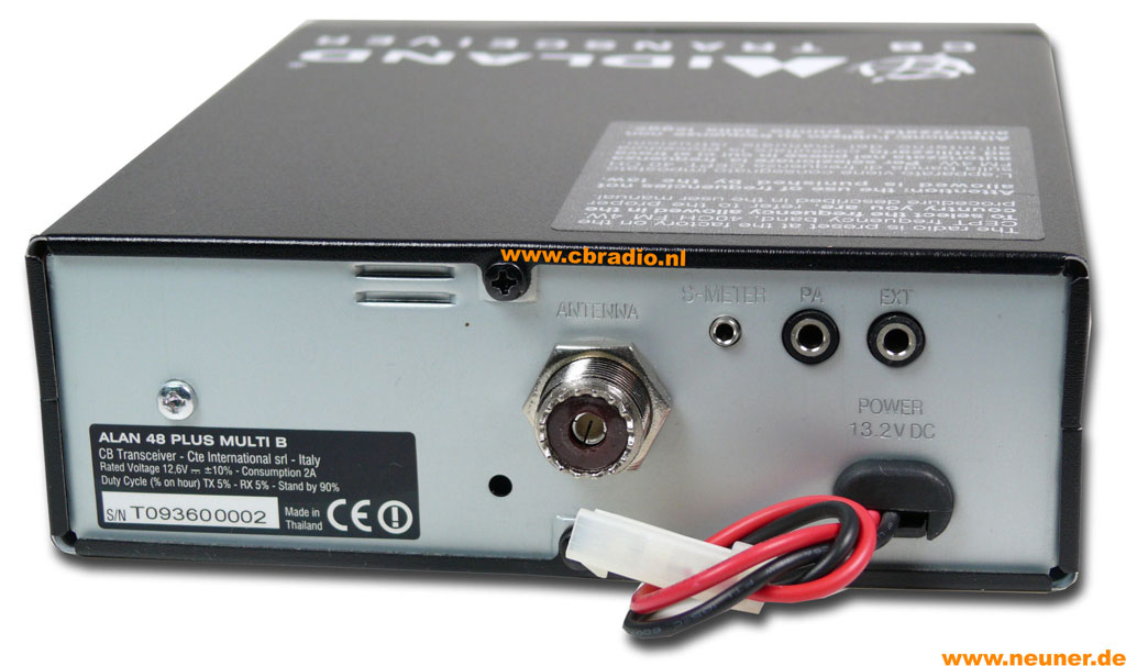 www.cbradio.nl: Pictures and Specifications Midland-Alan 48 Plus ...