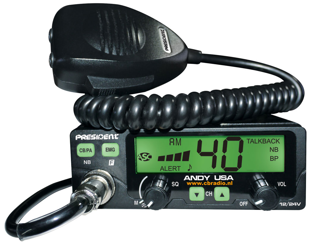 www cbradio nl: Pictures and Specifications of the President CB